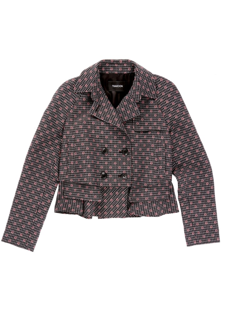 Dot Embroidery Wool Trench Jacket ($595)