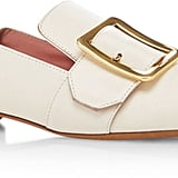 For something that matches everything in your closet, try these Bally Janelle Leather Slippers ($650).