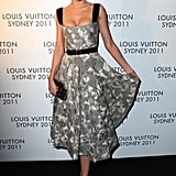Miranda tapped into her inner Betty Draper, donning a printed full-skirt dress by Louis Vuitton at the designer's Australian reception at the end of 2011.