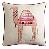 Travel Camel Embellished Square Pillow