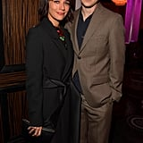 Rashida Jones and Ezra Koenig at Clive Davis's 2020 Pre-Grammy Gala in LA