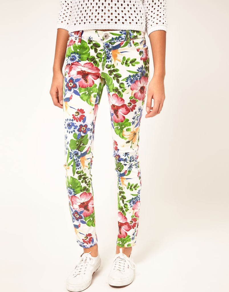 River Island Skinny Floral Jeans ($72)