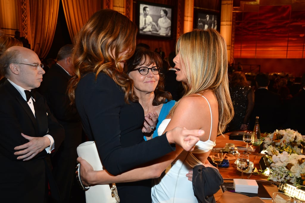 Jennifer Aniston at an AFI gala with Julia Roberts.