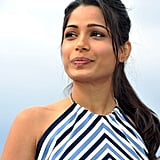 Freida Pinto posed for the Desert Dancer photocall at the Cannes FIlm Festival.