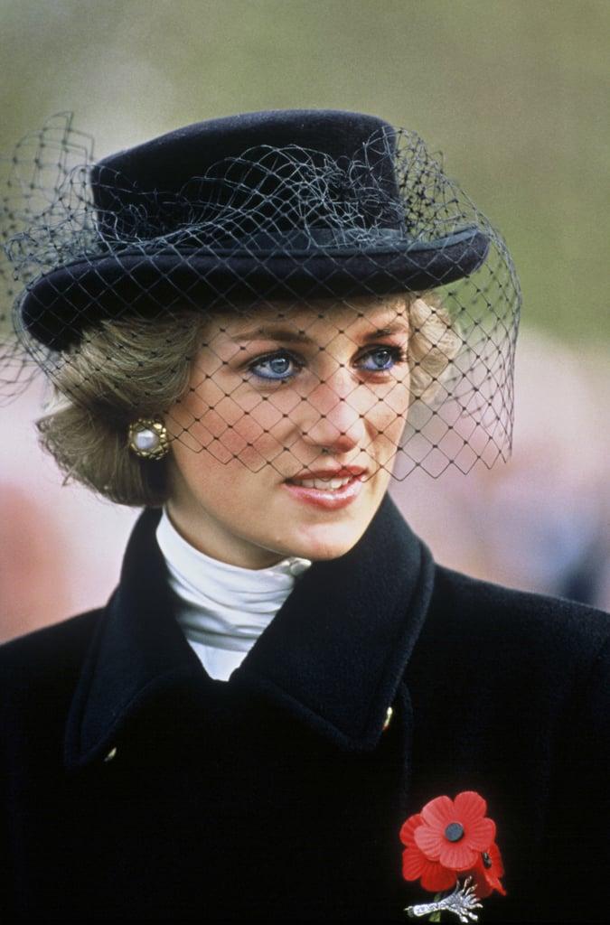 Princess Diana Wearing Blue Eyeliner in 1988