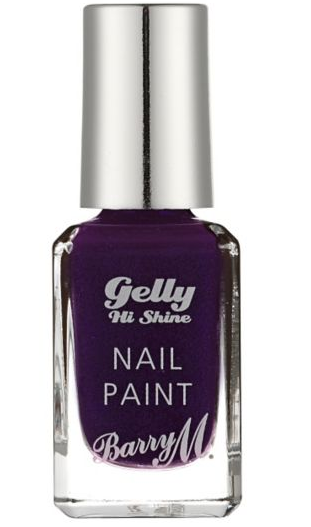 Barry M Gelly High Shine Nail Paint Black Currant