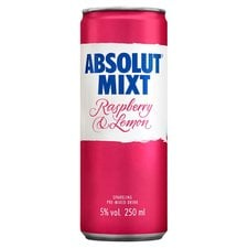Absolut Mixt Raspberry and Lemon