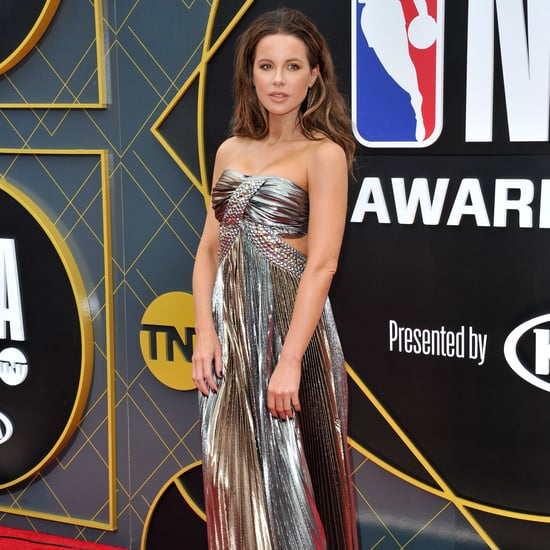 Kate Beckinsale's Silver Alberta Ferretti Gown June 2019