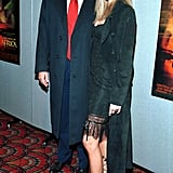 It was all about the leg in this all-black ensemble that Melania wore for a movie premiere in 2000.