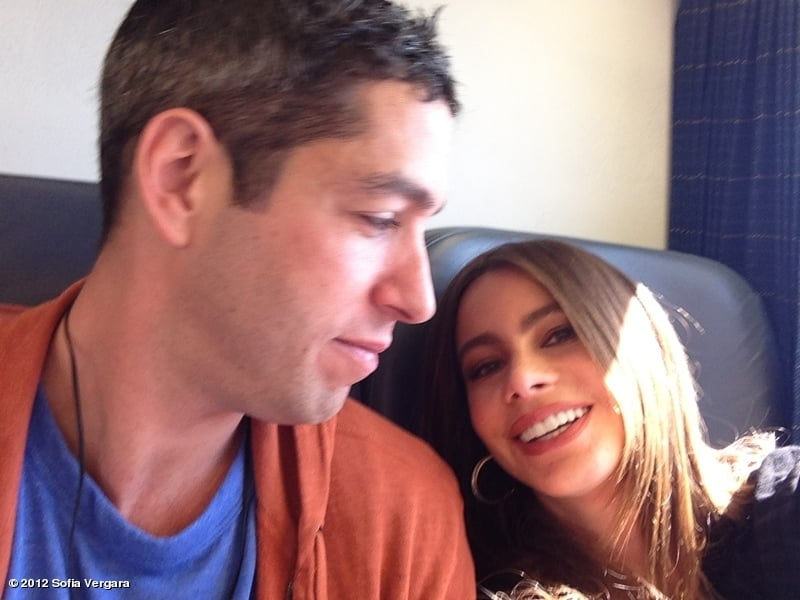 Sofia Vergara took a train ride with her fiancé, Nick Loeb. Source: Sofia Vergara on WhoSay