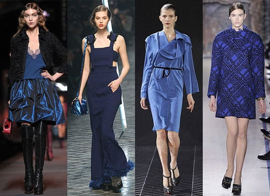 2011 A/W Paris Fashion Week Trend Report: Leather, Fur, Wide Legged Pants, Sheer Frocks And Blue!