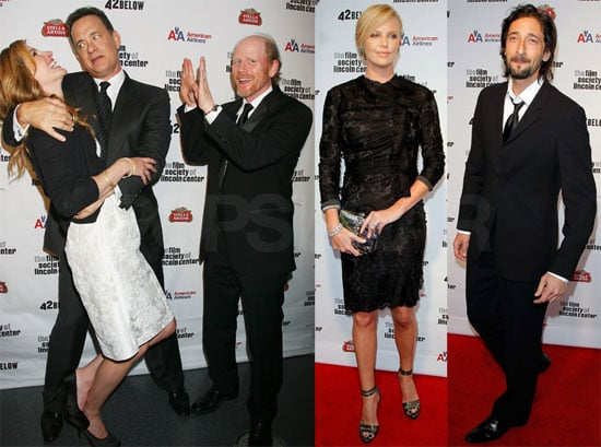Photos of Julia Roberts, Tom Hanks, Rita Wilson, Adrien Brody, Charlize Theron at the 36th Film Society of Lincoln Center's Gala