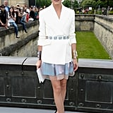 Looking stylish as ever, Olivia Palermo made the rounds at the Dior show.