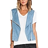 Sanctuary denim vest ($129)