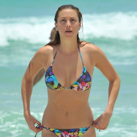 Whitney Port in a Floral Bikini in Miami Beach Pictures