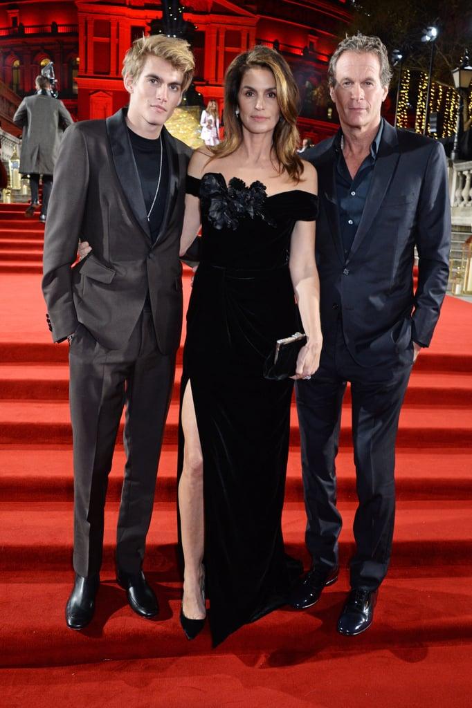 Presley Gerber, Cindy Crawford, and Rande Gerber