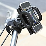 The Universal Bike Mounted Gadget Holder ($15) really can mount it all: keep your iPhone, GPS, or other cell phone safe and secure as you zip around in your bike. But bikers be warned: don't ride and text! Keep your eyes on the road and fingers off the keypad unless you are at a complete stop.
