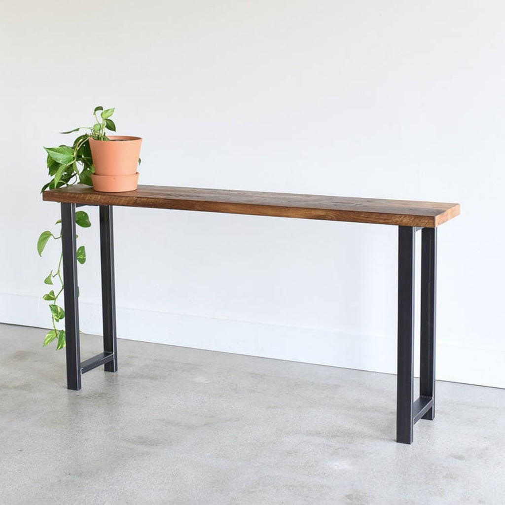 Console Table Made From Reclaimed Wood