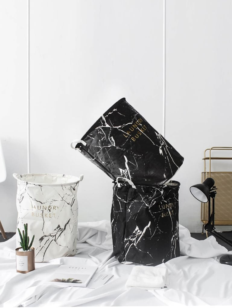 Marble Pattern Storage Basket