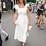 Looking Summer Ready in a White Eyelet Dress