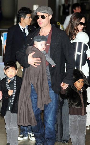 Mini Mes: Angelina and Vivienne & Brad and Knox