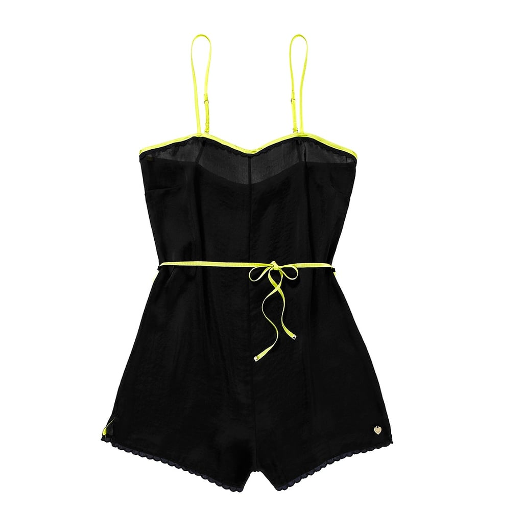 The fluorescent trim on this Juicy Couture Tumbled Satin Romper ($88) makes it an irresistible little find.