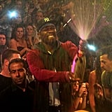 Rapper 50 Cent went on a Champagne-spraying spree during a night out in Paris back in October 2011.