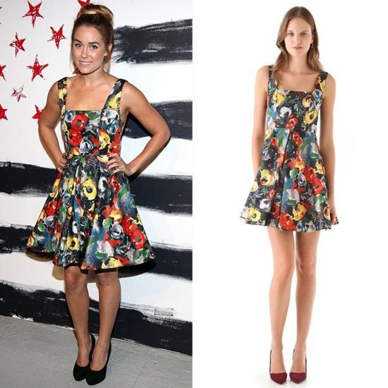 Lauren Conrad Wearing Floral Dress At New York Fashion Week