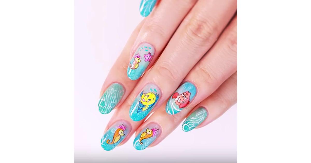 Little Mermaid Nail Art Diy Video Popsugar Beauty Uk