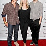 Pictured: Bob Morley, Eliza Taylor, and Devon Bostick.