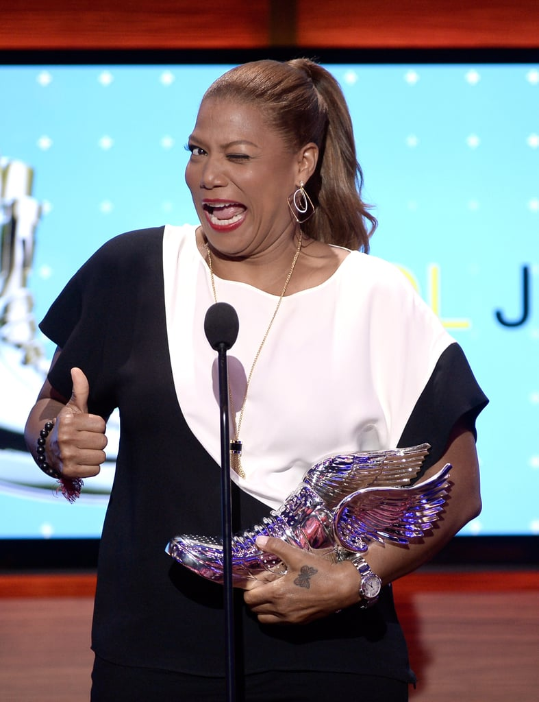 Queen Latifah accepted a Do Something Award.