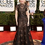 Cate Blanchett in Black Lace Armani Privé at the 2014 Golden Globe Awards