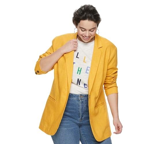 POPSUGAR Plus Size Linen Blazer