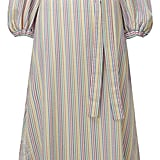 """""""Off-the-shoulder dresses are everywhere this season, but there's something about the candy-colored stripes and bubble sleeves on this Lisa Marie Fernandez style ($665) that makes the look all the more fun."""" — SW"""