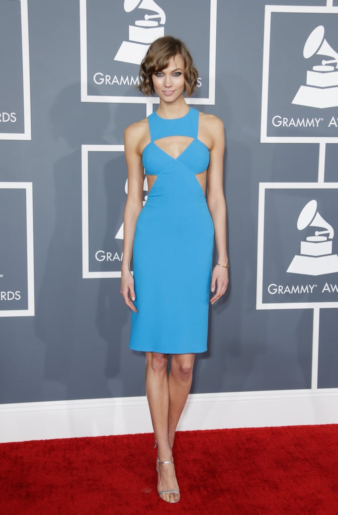 Karlie Kloss rocked bright blue.