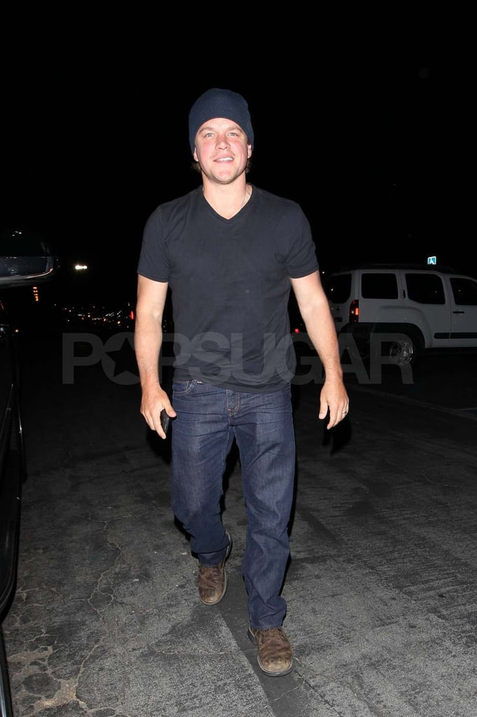 Matt Damon Flashes His Sexy Smile Following a Prince Concert