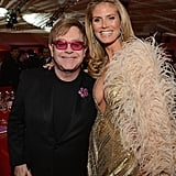 Heidi Klum and Elton John posed together at his party for the Oscars in LA.