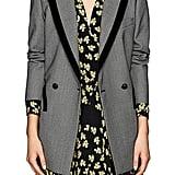 Blazé Milano Everyday Velvet-Trimmed Birdseye Wool Blazer