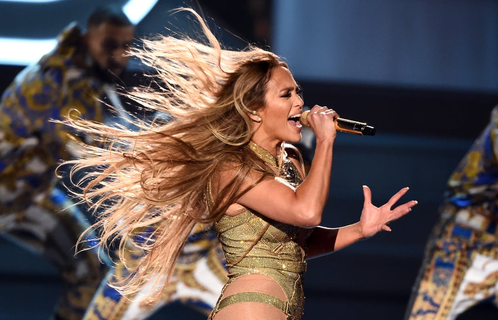"""Jennifer Lopez has proved why she is well-deserving of the MTV Video Vanguard Award. At the 2018 Video Music Awards, the 49-year-old pop legend performed a medley of her many hits, including """"Get Right,"""" """"Ain't Your Mama,"""" and """"Jenny From the Block."""" At one point, Ja Rule even joined J Lo onstage to perform a bit of their massively popular 2001 song """"I'm Real."""" Needless to say, viewers were left mesmerised by the memorable performance.       Related:                                                                                                           As Usual, Jennifer Lopez Makes Sultry Look Effortless on the VMAs Carpet"""