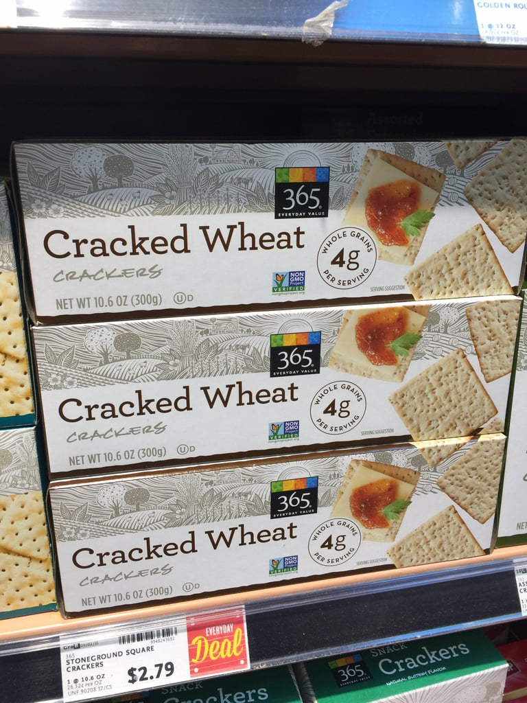 Best Whole Foods Product: 365 Cracked Wheat Crackers ($3)