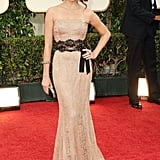 Sarah Hyland in vintage at the Golden Globes.