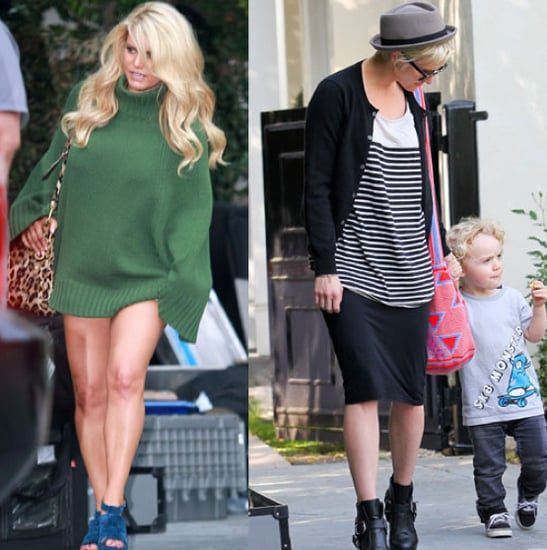 Jessica Simpson Arrives at a Photo Shoot With Ashlee, Bronx, and Eric Johnson