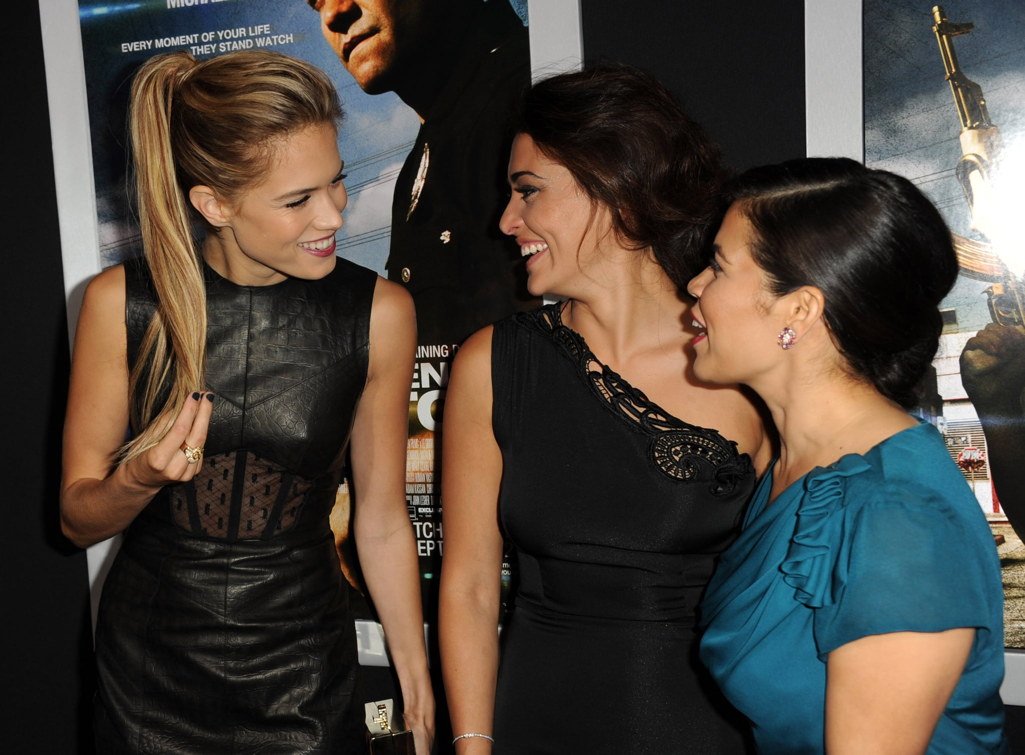 Cody Horn chatted with costars America Ferrera and Natalie Martinez at the End of Watch premiere in LA.