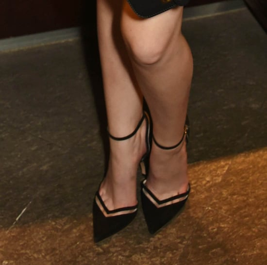 Anna Kendrick's terrific zebra print outfit and toe cleavage