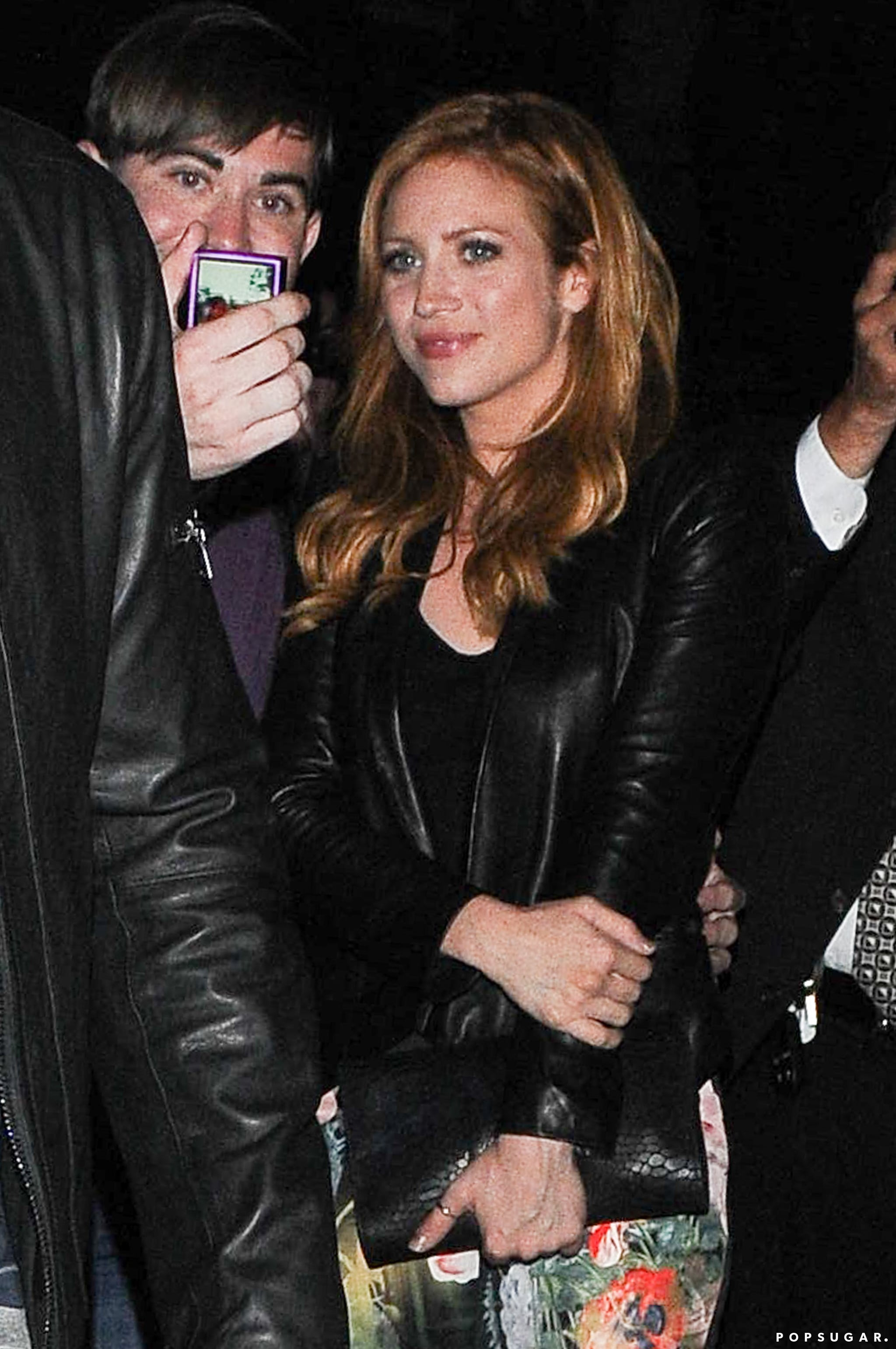 Brittany Snow took a photo with a fan.