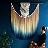 Large Dip-Dyed Macrame Wall Hanging