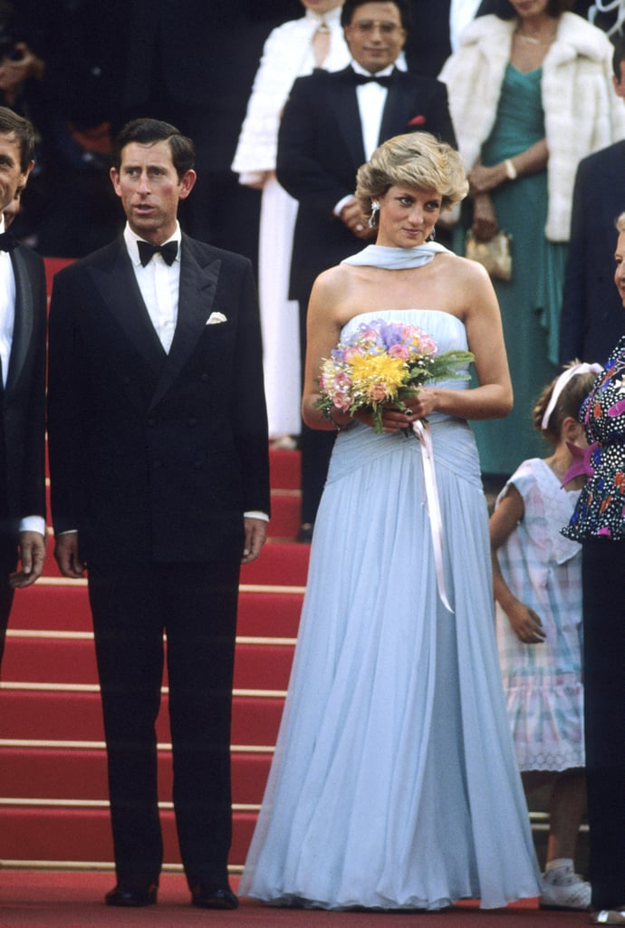 Prince Charles and Princess Diana walked the red carpet together in 1987.