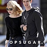 Emma Stone and Andrew Garfield spent some quality time during a stroll through NYC.