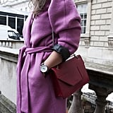 A pop of red to offset a little lavender? Yes!