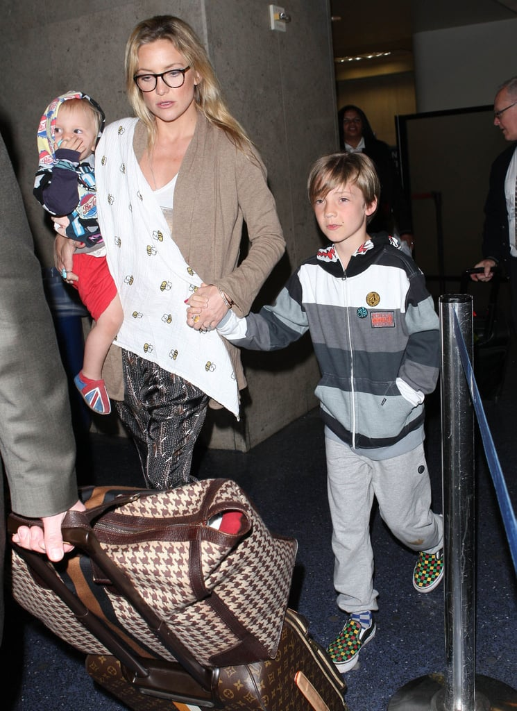Kate Hudson carried Bing through the airport in LA.